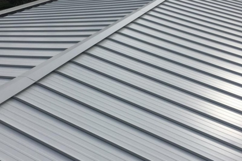 metal roof with low slope