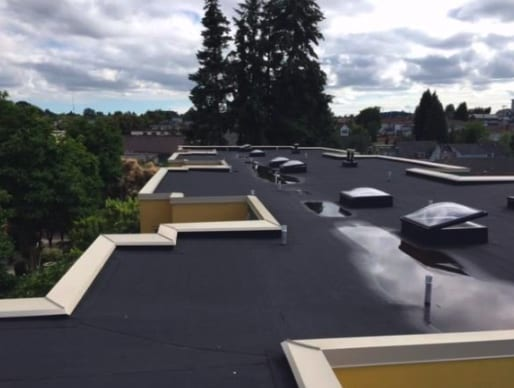 commercial roofing project at Commercial Street in Vancouver