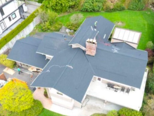 commercial roofing project at Crestline rd in West Vancouver