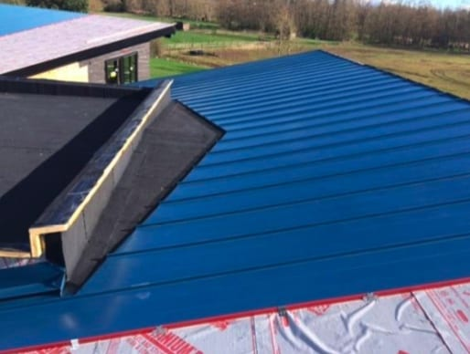 commercial roofing project in Langley