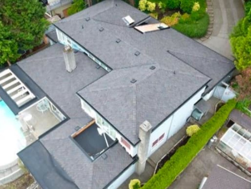 commercial roofing project at Lions Bay Road in West Vancouver