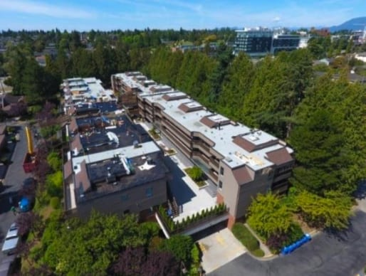 commercial roofing project at 49th Ave in Vancouver