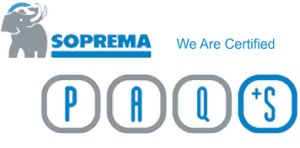 Coast Mountain roofing company is officially certified by Soprema