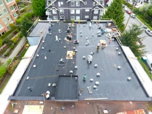 we removed old tar and roof and installed new roof system in north vancouver