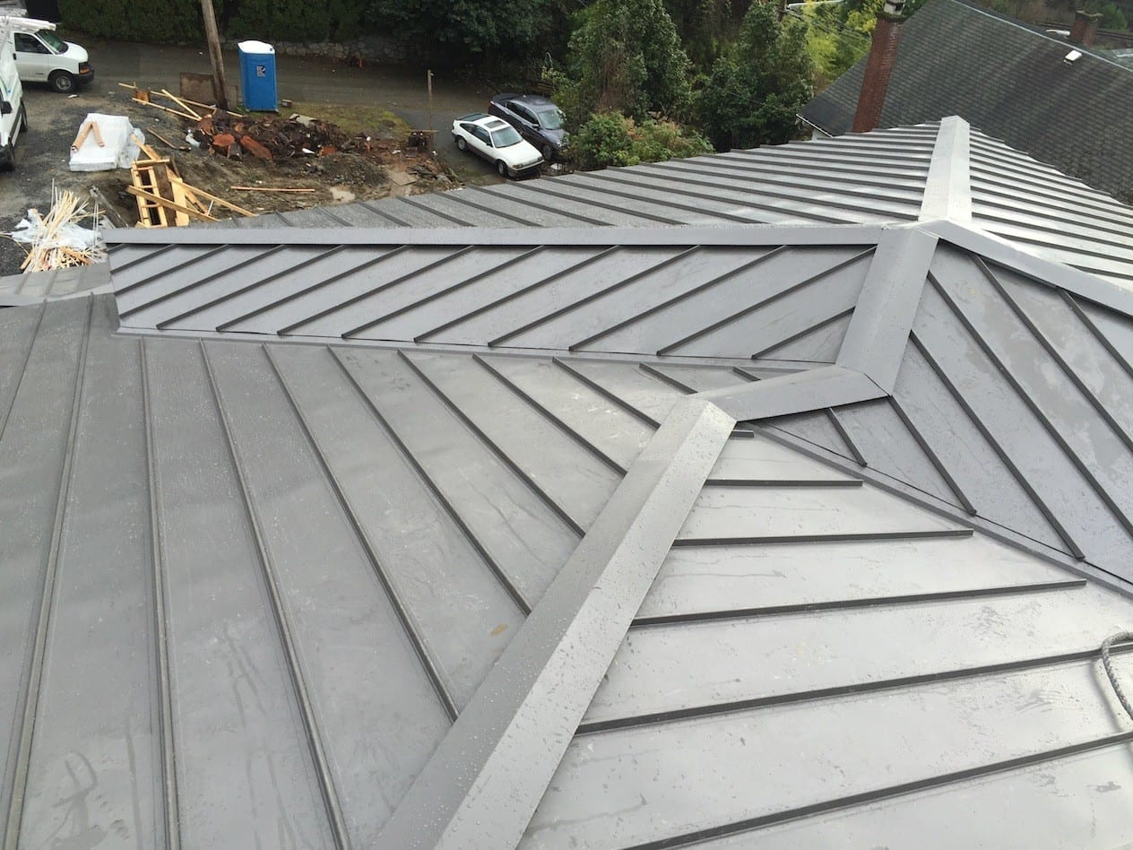 New Metal Roof install on one of the property in Vancouver