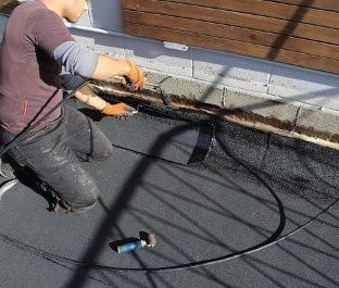 Vancouver roofing contractor does residential roof repair for torch on roof