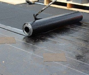 Our roofing contractor is finishing up the waterproofing roof in Vancouver residential building